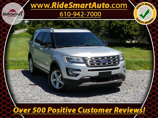 2016 Ford Explorer XLT 4WD-Sunroof-Leather-Bluetooth-3rd Row Seat