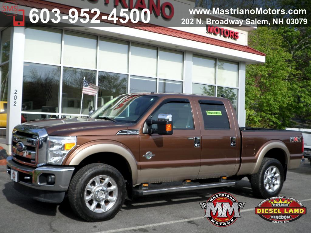 2011 Ford F-250 SD CREW CAB LARIAT POWERSTROKE DIESEL
