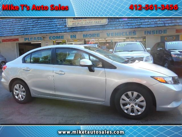 2012 Honda Civic LX Sedan AT with Front Side Airbags