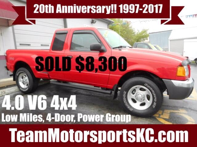 2002 Ford Ranger XLT SuperCab 4WD StepSide