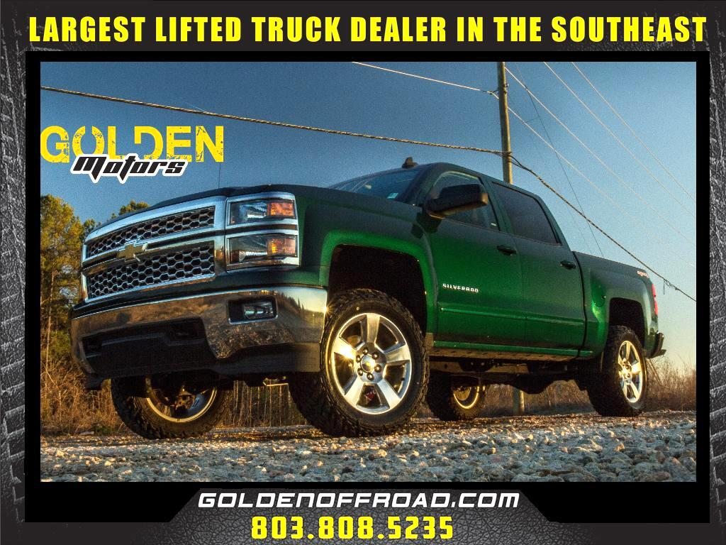 2015 Chevrolet Silverado 1500 LT CrewCab 4WD 3.5 In LIFTED Fuel M/T's