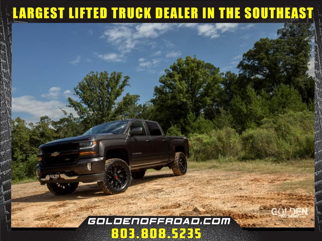 "2016 Chevrolet Silverado 1500 LT Z71 CREW CAB 4WD 3.5"" LIFTED WORX WHEELS FUEL"
