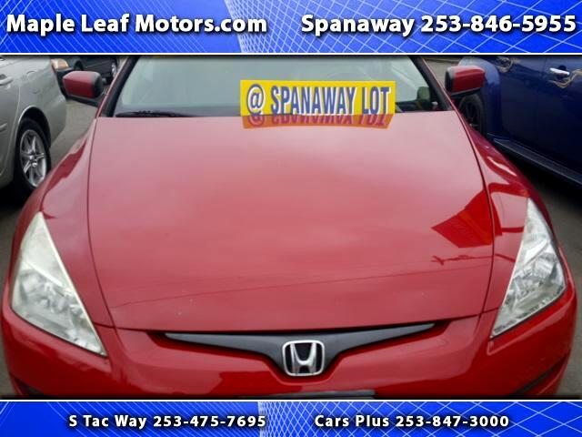 2005 Honda Accord EX V-6 Coupe AT with Navigation System