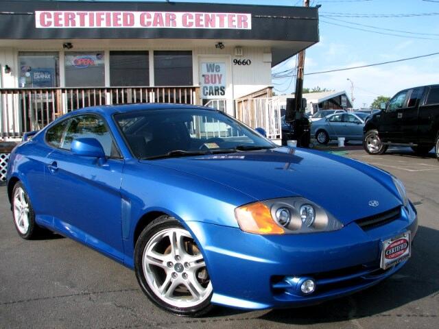 used 2004 hyundai tiburon gt v6 for sale in fairfax va 22031 certified car center inc. Black Bedroom Furniture Sets. Home Design Ideas