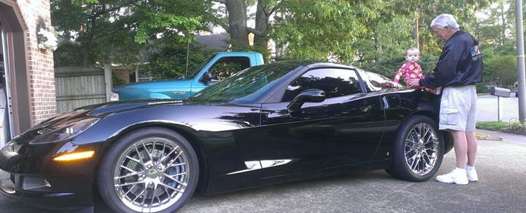 David & Layla Henry with custom Callaway Corvette
