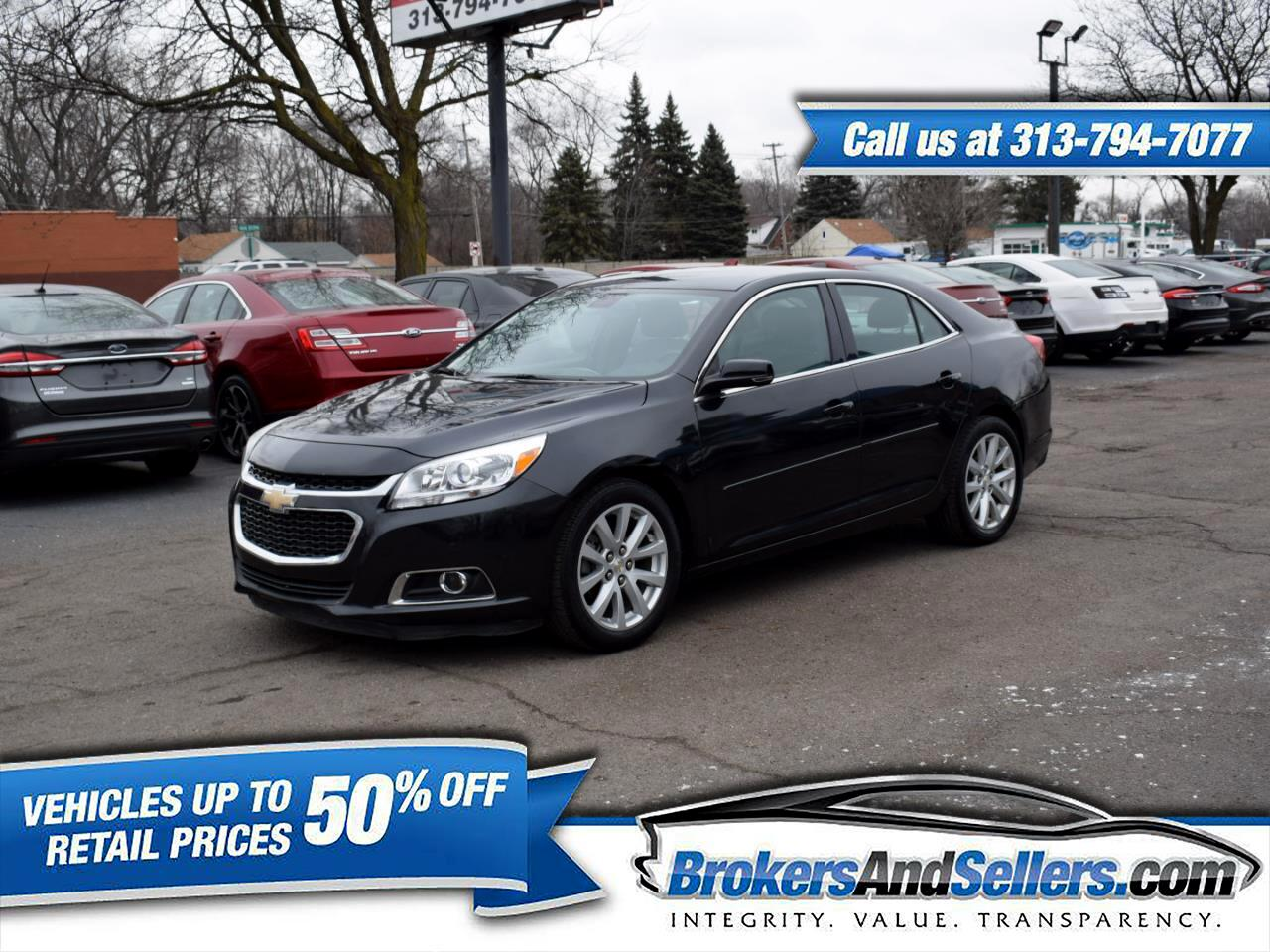 used 2015 chevrolet malibu 2lt for sale in detroit mi. Black Bedroom Furniture Sets. Home Design Ideas