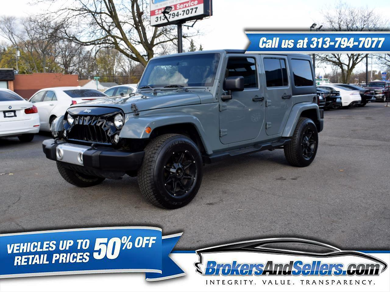 Used 2014 Jeep Wrangler Unlimited Sahara 4wd For Sale In Detroit Mi 48180 Brokersandsellers Com