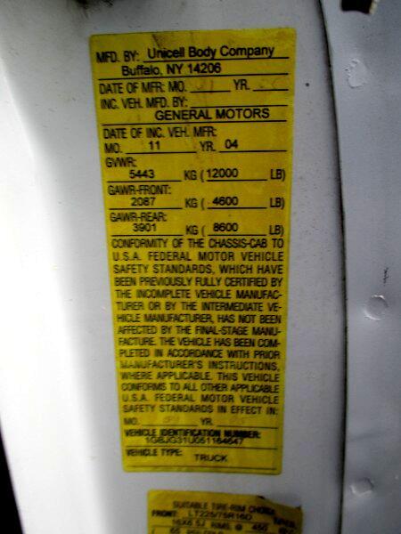 2005 Chevrolet Express G3500