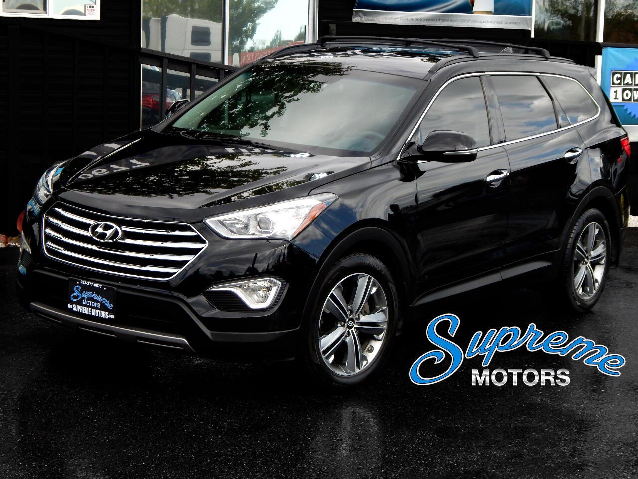 2016 Hyundai Santa Fe Limited AWD 3.3 Liter w/3rd Row Seat, Black Leathe