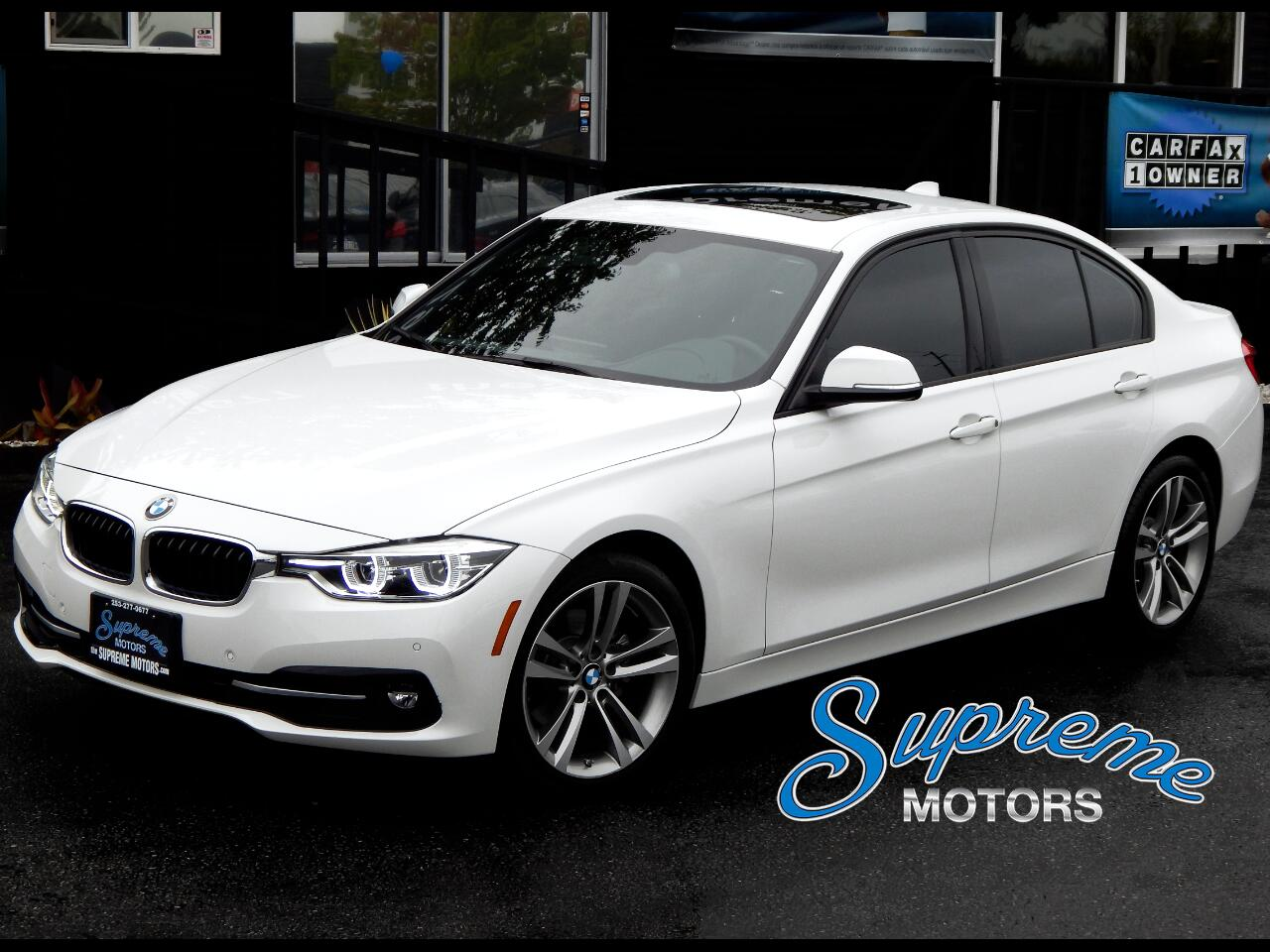 2016 BMW 3-Series 328i Sport Pkg w/Technology Pkg, Heated Seats, Sun