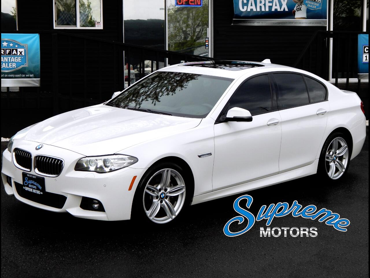 2014 BMW 5-Series 535i M-Sport w/Heated Seats, White/Black, CLEAN CA