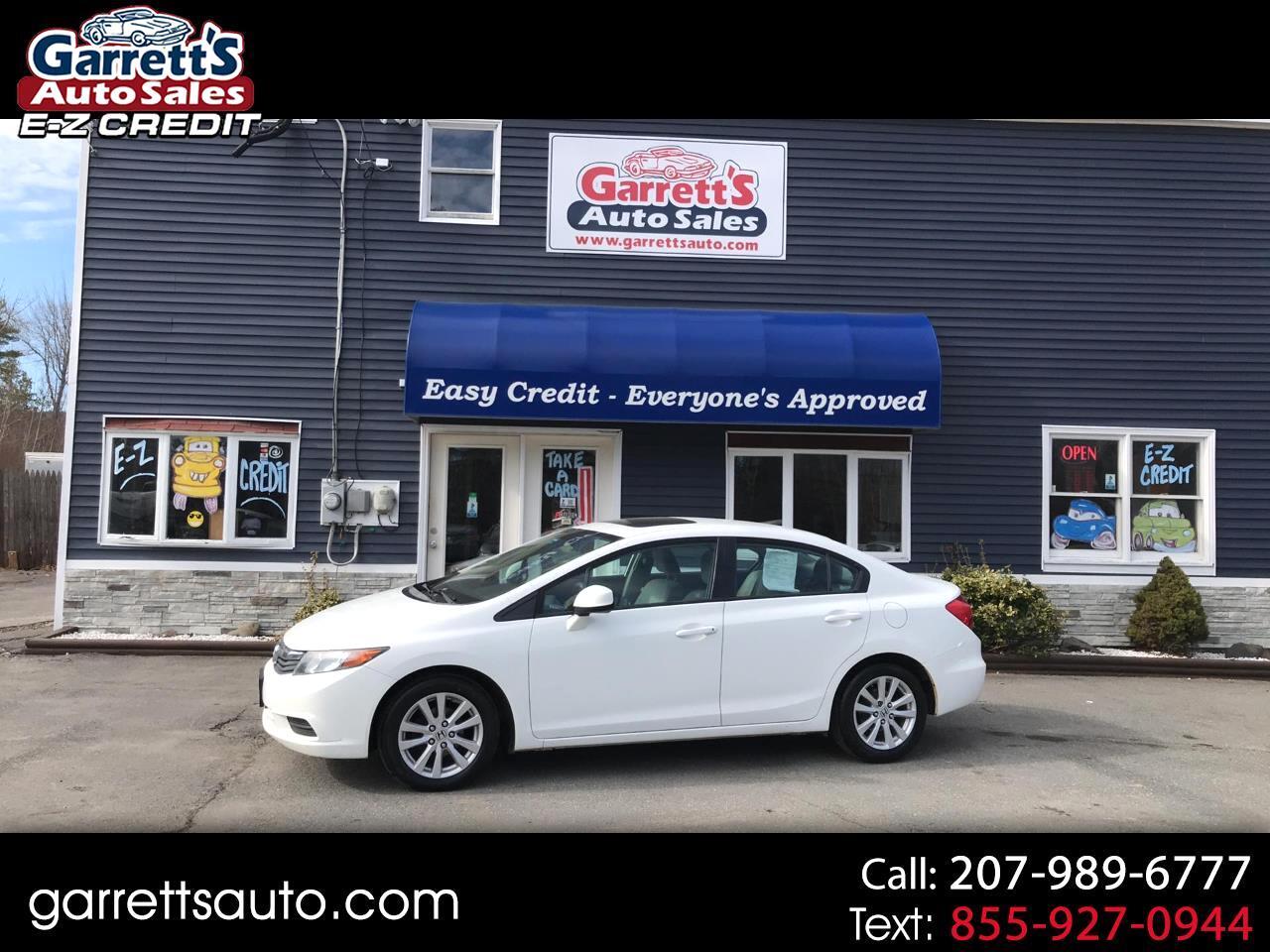 Honda Civic Sdn 4dr Auto EX 2012