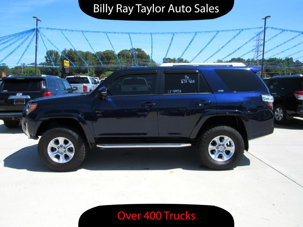 used 2016 toyota 4runner sr5 4wd for sale in cullman al 35058 billy ray taylor auto sales. Black Bedroom Furniture Sets. Home Design Ideas