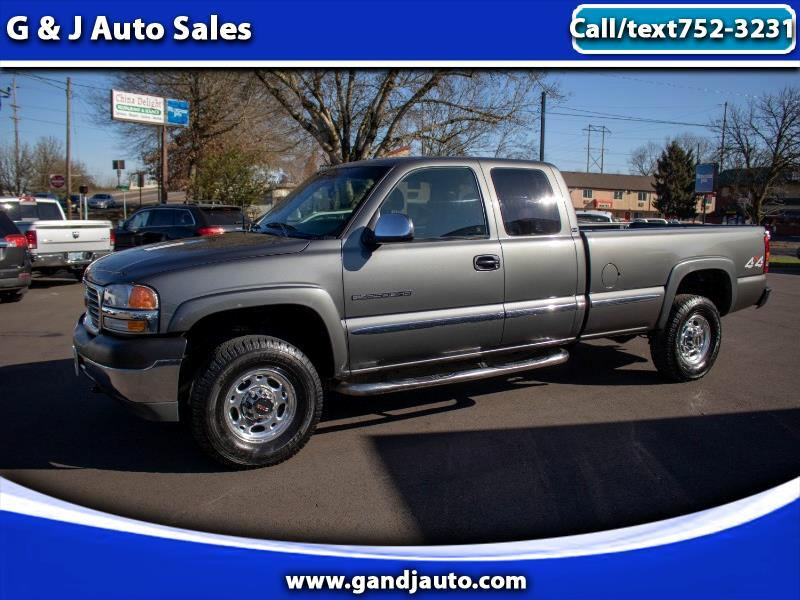 2002 GMC Sierra 2500HD SLE Ext. Cab Long Box 4WD