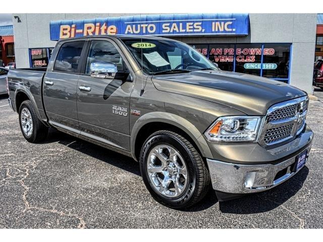2014 RAM 1500 CREW CAB LARAMIE HEMI V8 LEATHER NAV POLISHED WHEE