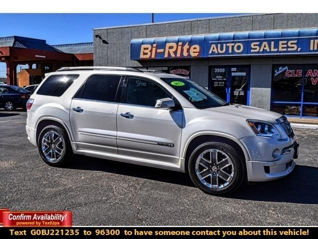 2011 GMC Acadia AWD DENALI, LOADED, LEATHER, ROOF, NAV, POWER SEAT