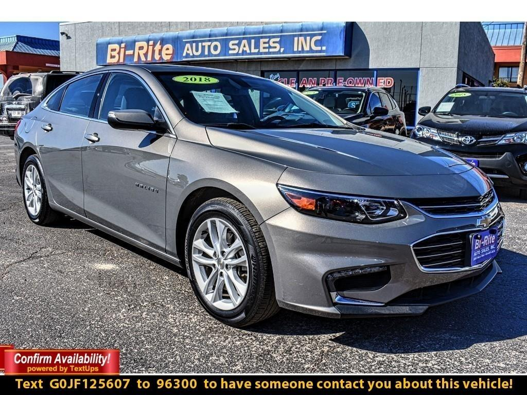 2018 Chevrolet Malibu DRIVE IN STYLE, FUEL EFFICIENT 4 DR SEDAN. SPORTY
