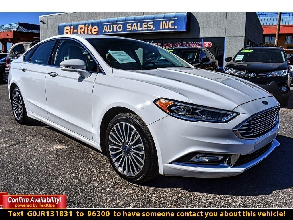 2018 Ford Fusion TITANIUM AWD SEDAN, LEATHER, ROOF, NAV & ALLOY WHE