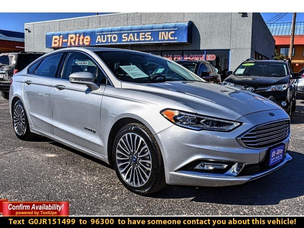 2018 Ford Fusion Hybrid TITANIUM FWD, ONE OWNER, LEATHER, ROOF, NAV, ALLOY