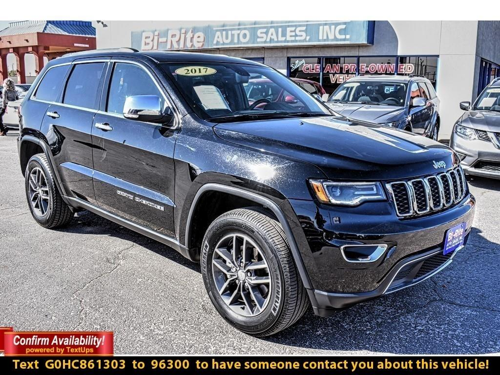 2017 Jeep Grand Cherokee LIMITED 4X4, LOADED MID SIZE SUV, GREAT GAS MILEAG