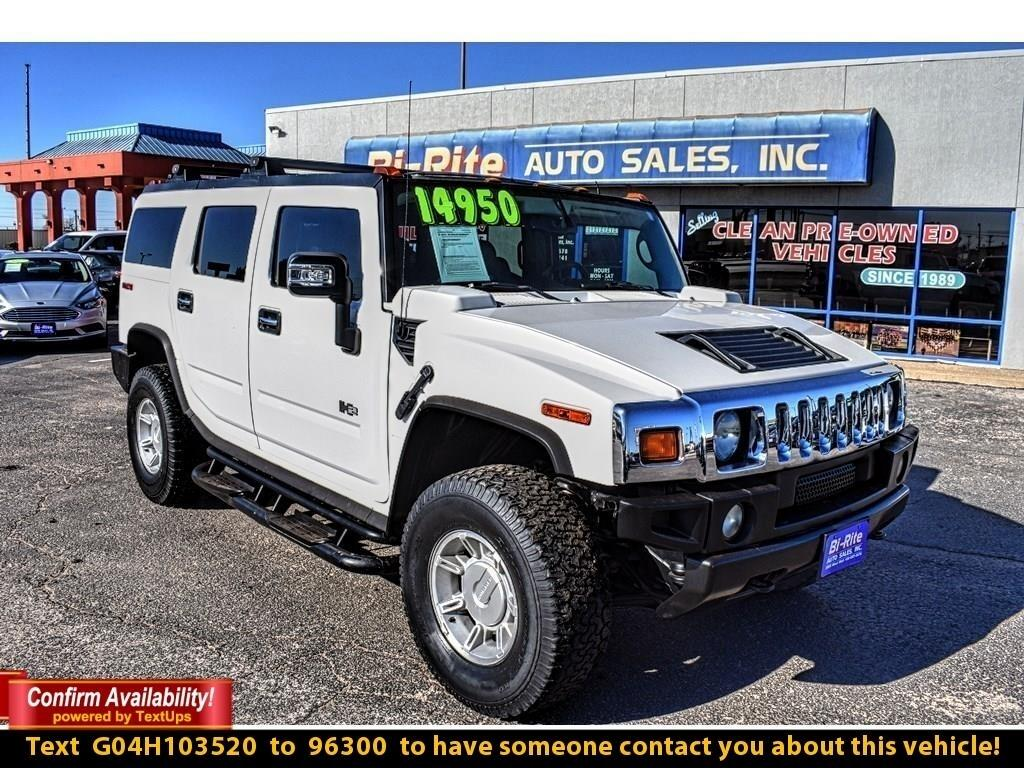 2004 HUMMER H2 LOW MILEAGE HUMMER H2, EASY FINANCING OPTIONS, LEA