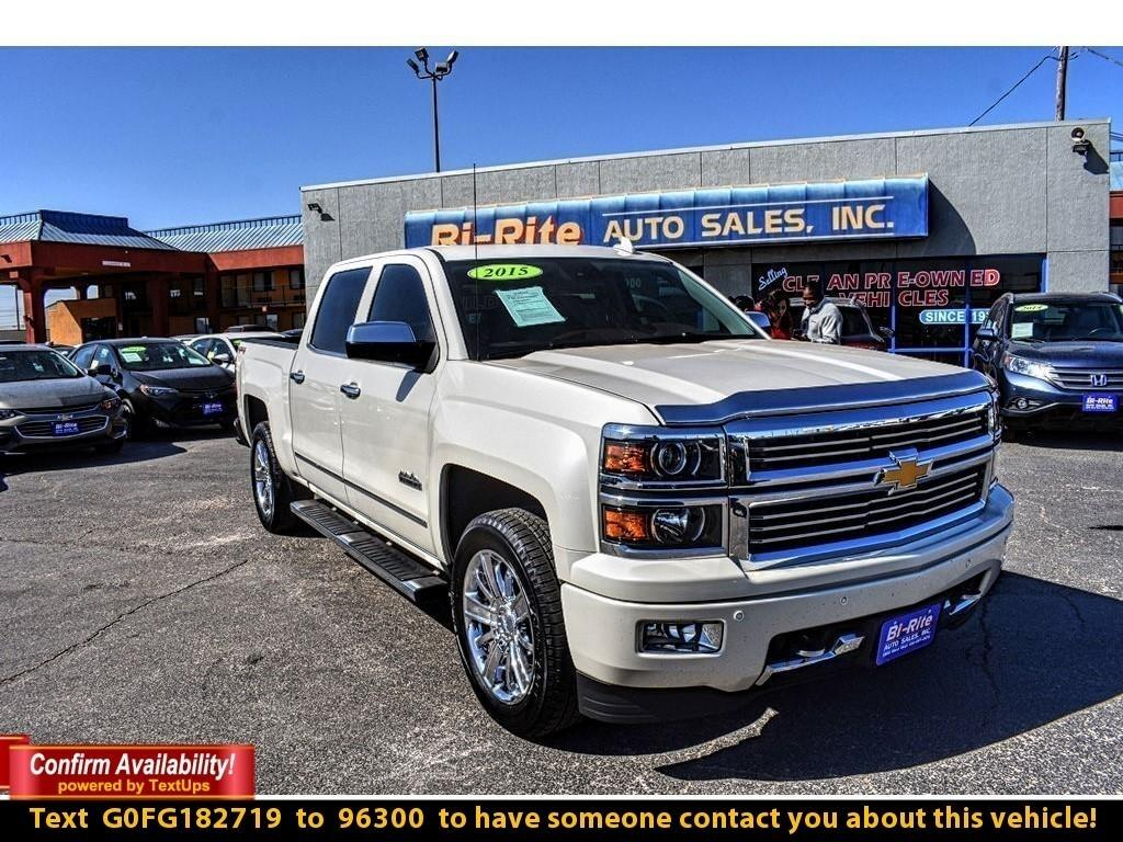 2015 Chevrolet Silverado 1500 4WD HIGH COUNTRY, CRYSTAL WHITE, HARD LOADED !!