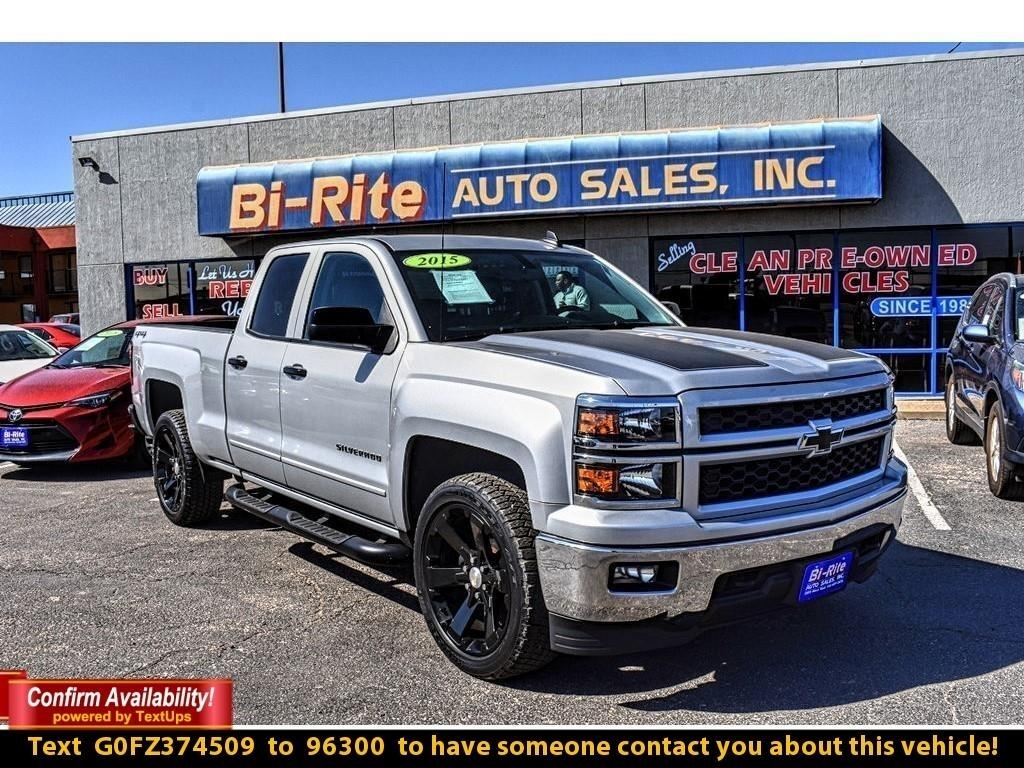 2015 Chevrolet Silverado 1500 4WD, DOUBLE CAB, SPORTY LOOK, LOW MILES ONE OWNER