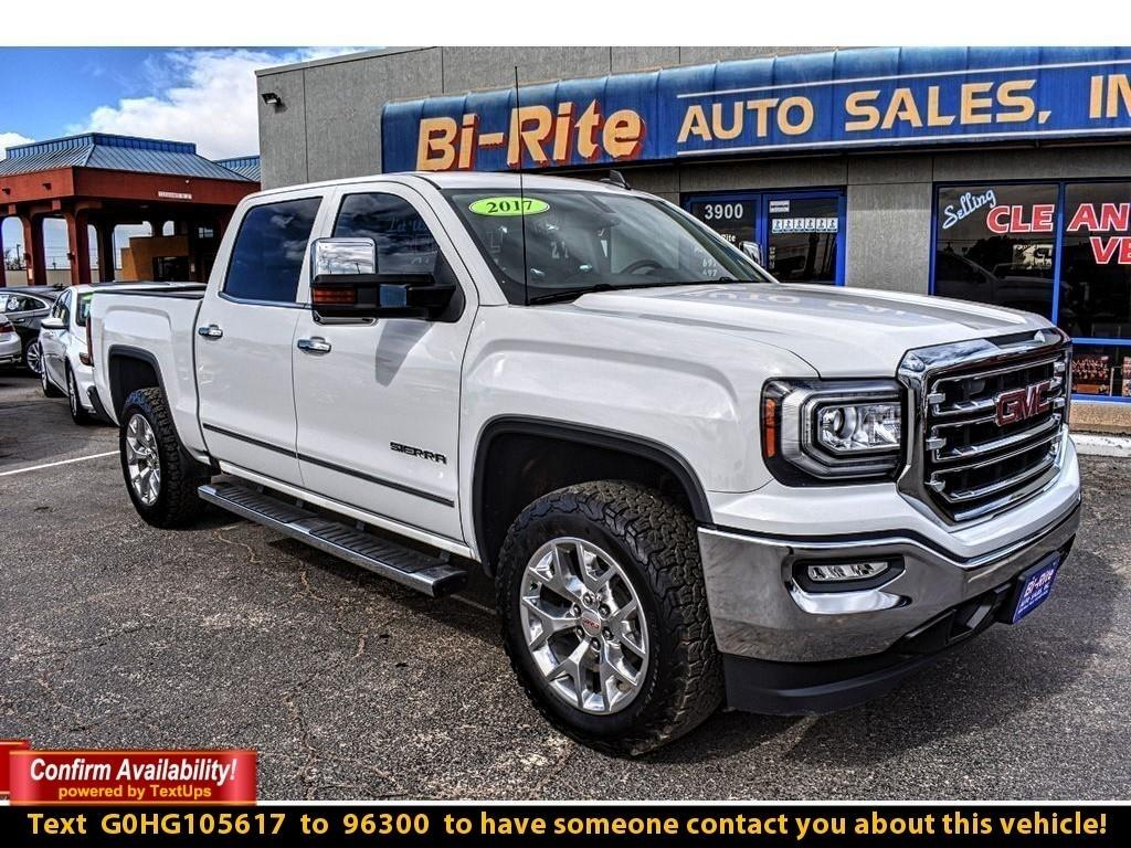 2017 GMC Sierra 1500 SLT, CREW CAB, ONE OWNER, LOW MILES