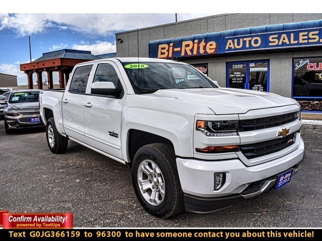 2018 Chevrolet Silverado 1500 4WD 2LT, CREW CAB, ALLOY WHEELS, NAV, TOW