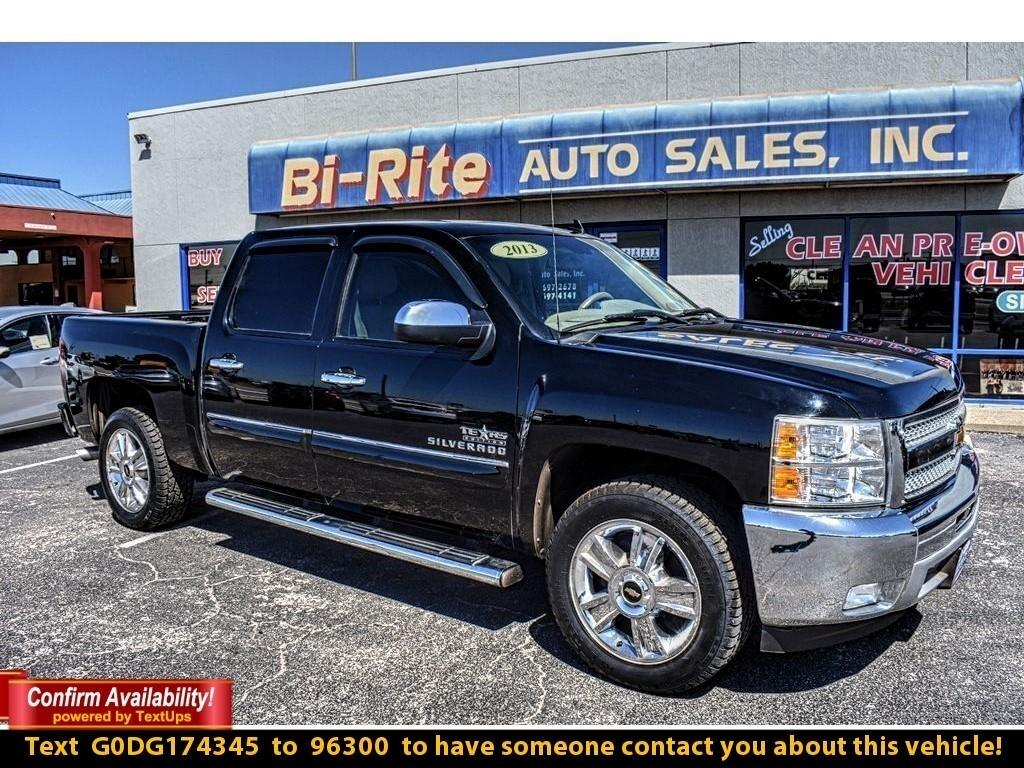 2013 Chevrolet Silverado 1500 TEXAS EDITION 5.3 V8 BLACK WITH POLISHED WHEELS