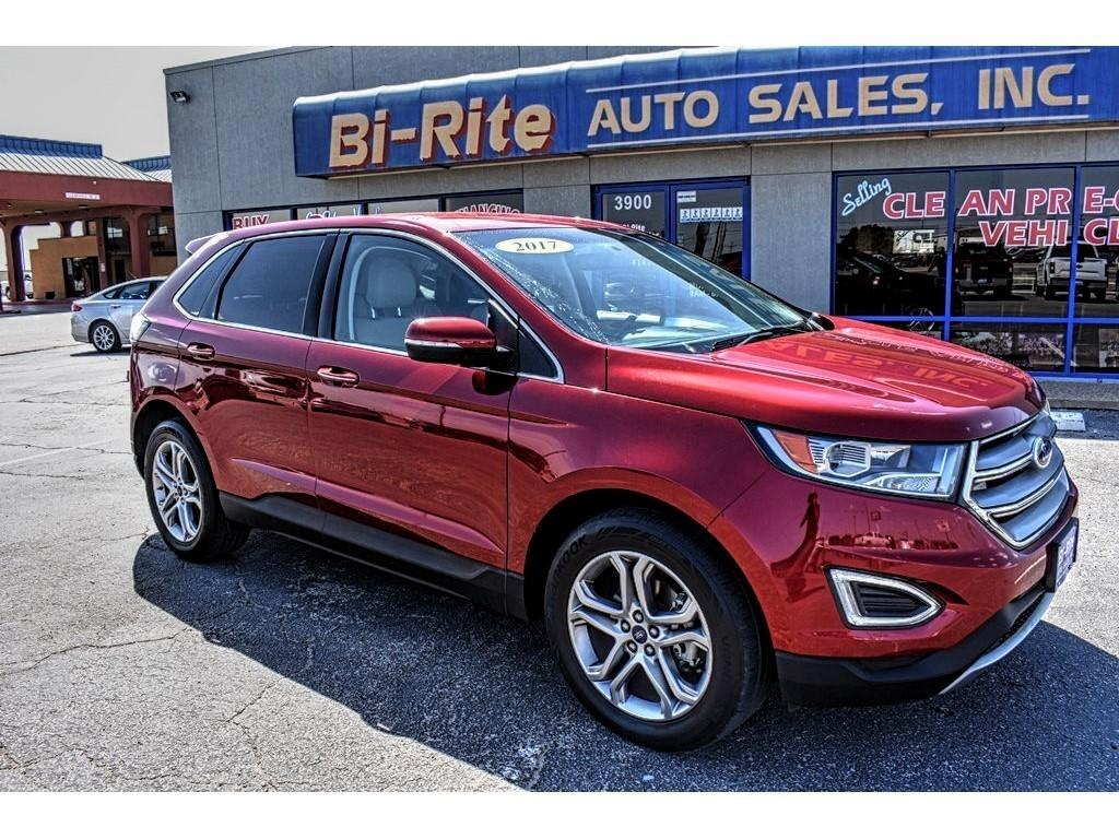 2017 Ford Edge RED WITH TAN LEATHER TITANIUM PACKAGE VERY NICE