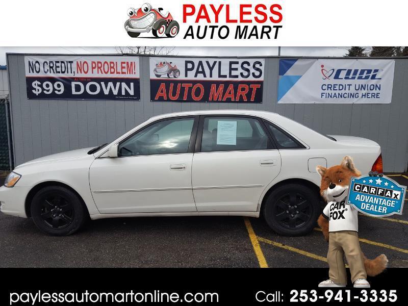 2000 Toyota Avalon 4dr Sdn XL w/Bench Seat