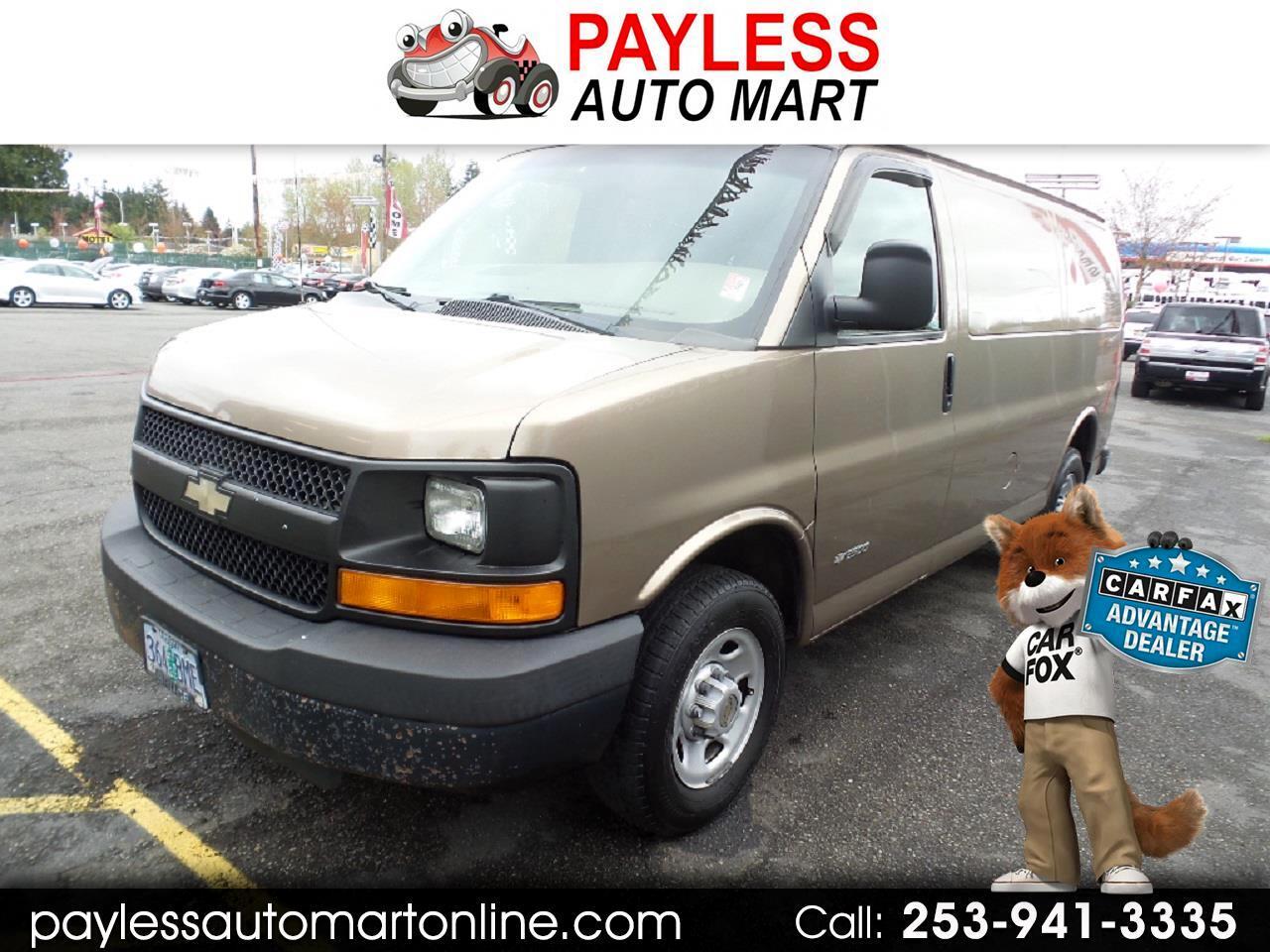 "2003 Chevrolet Express Cargo Van 2500 135"" WB RWD"