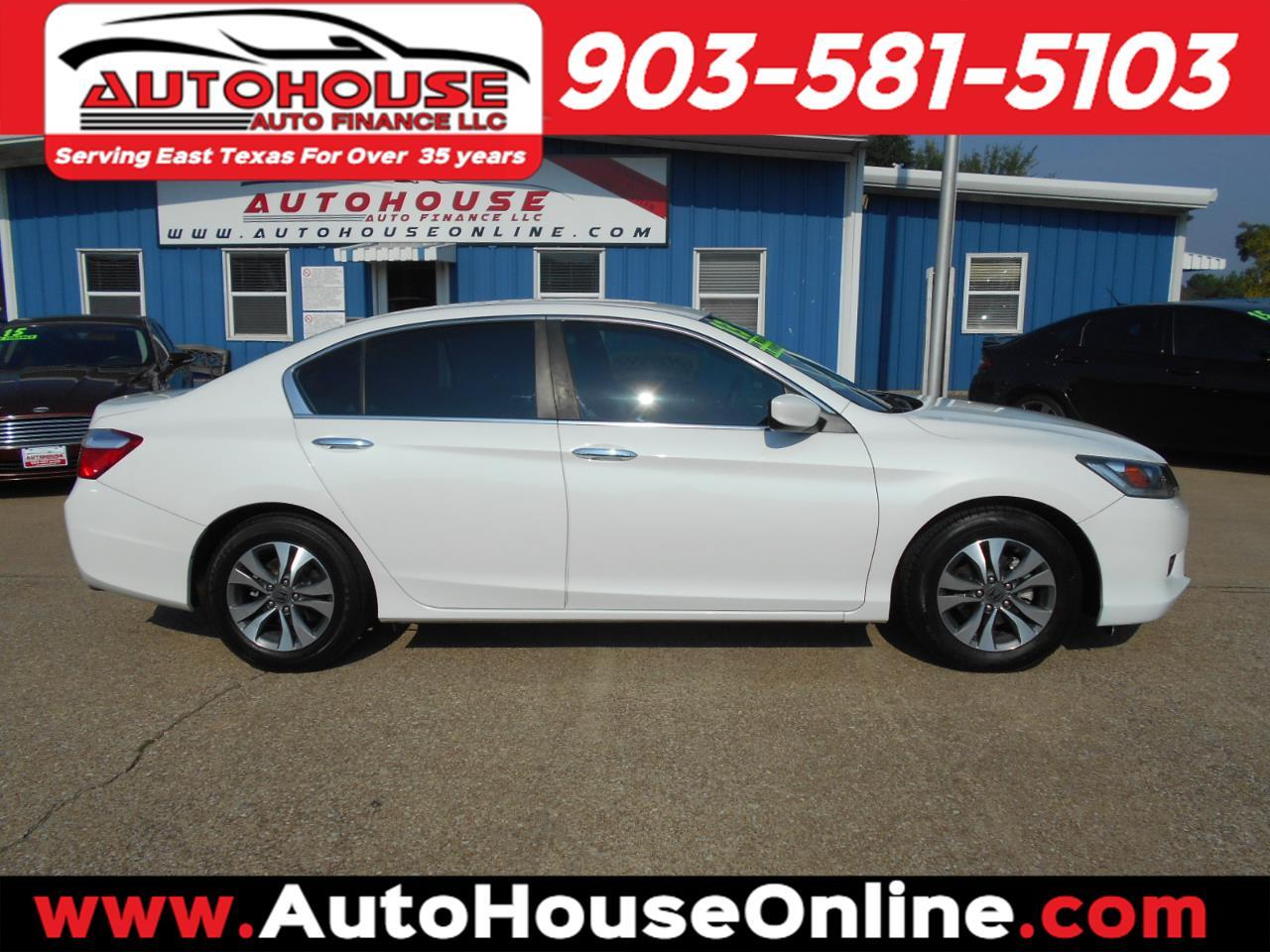 Honda Tyler Tx >> Used 2013 Honda Accord Lx Sedan Cvt For Sale In Tyler Tx