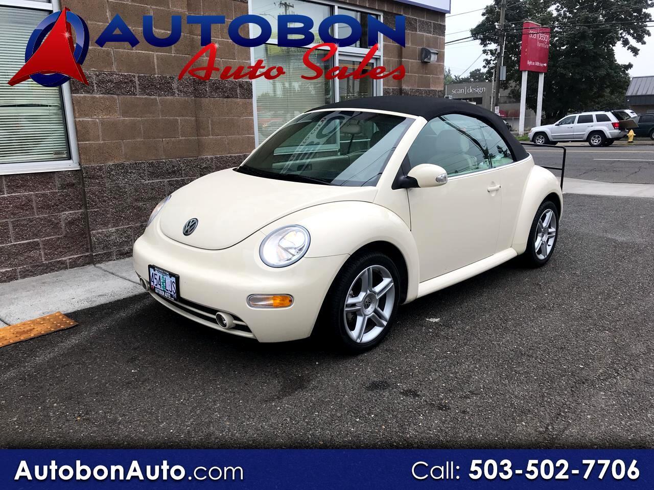 2004 Volkswagen New Beetle Convertible 2dr Convertible GLS Turbo Auto
