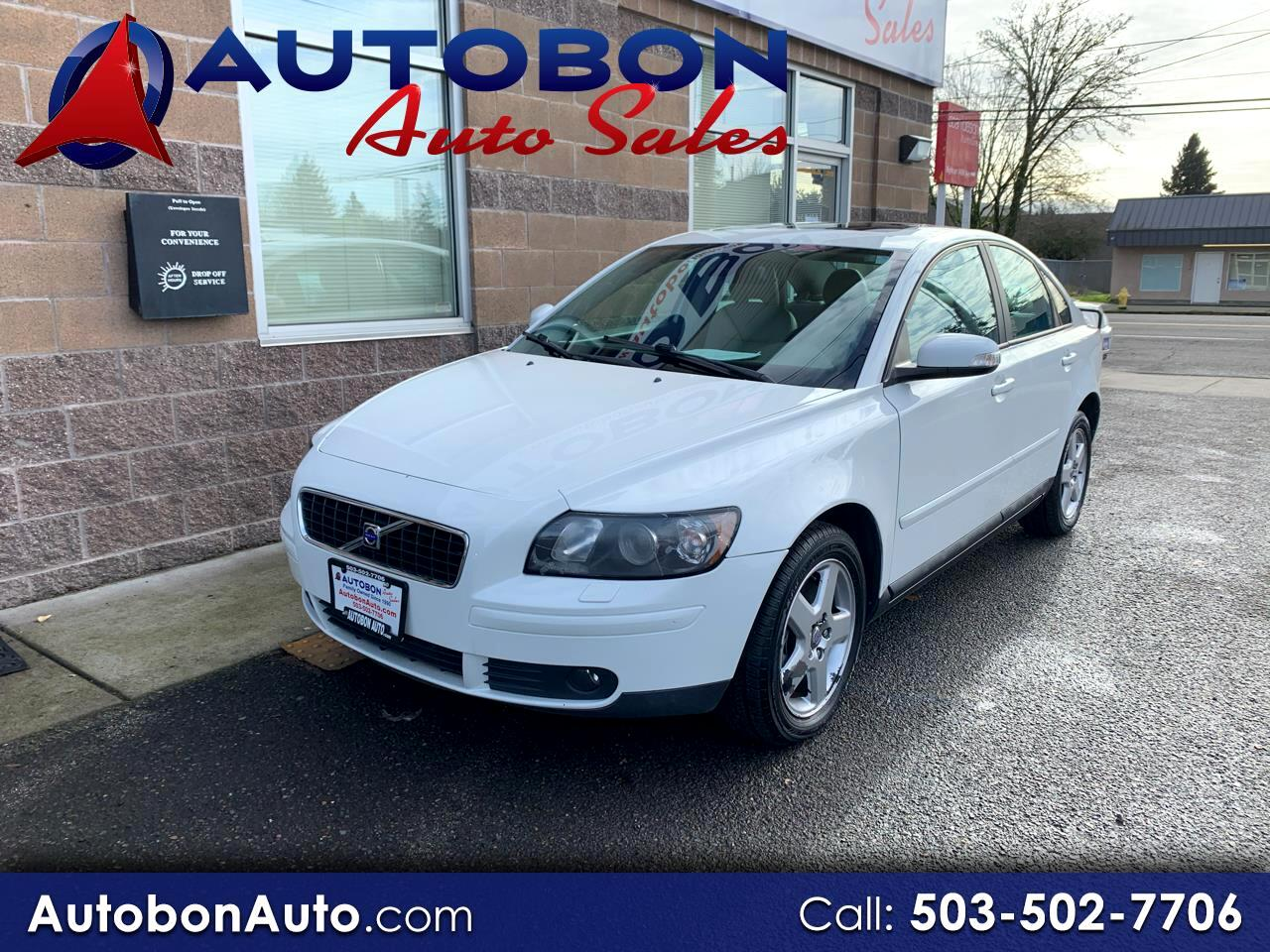 Volvo S40 4dr Sdn 2.5L Turbo AT AWD w/Snrf 2007