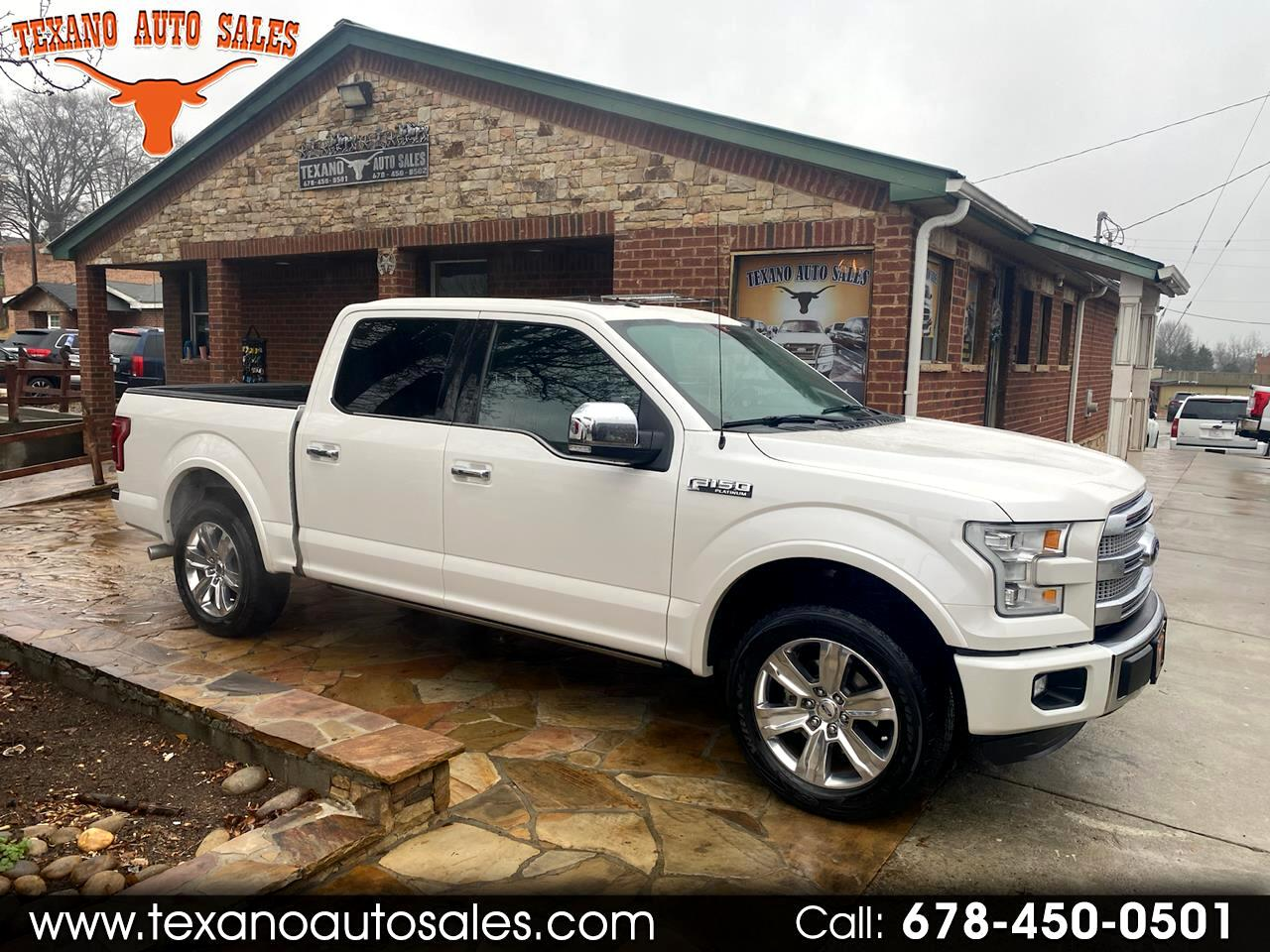 "Ford F-150 2WD SuperCrew 157"" Platinum 2016"