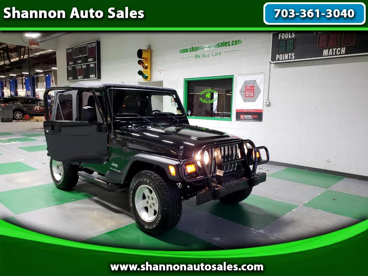 Used Cars For Sale Manassas Va 20110 Shannon Auto Sales 2006 Jeep Wrangler Fuel Filter Se