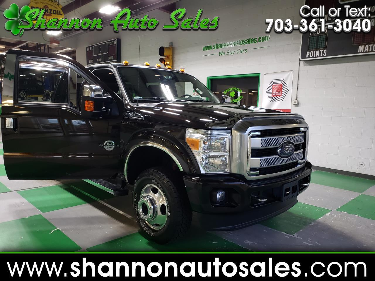 2014 Ford F-350 SD Platinum Crew Cab Long Bed DRW 4WD