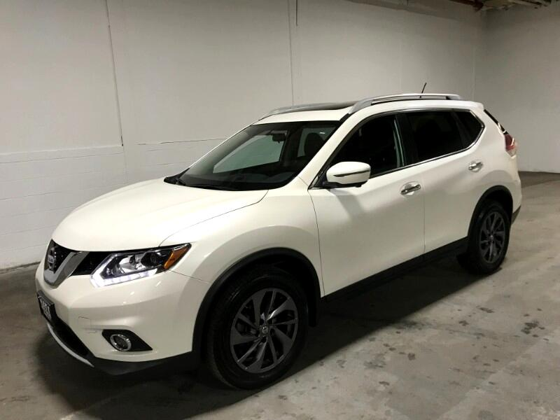 2016 Nissan Rogue SL AWD NAVI LEATHER PANO ROOF w/REAR&SIDE CAMERAS