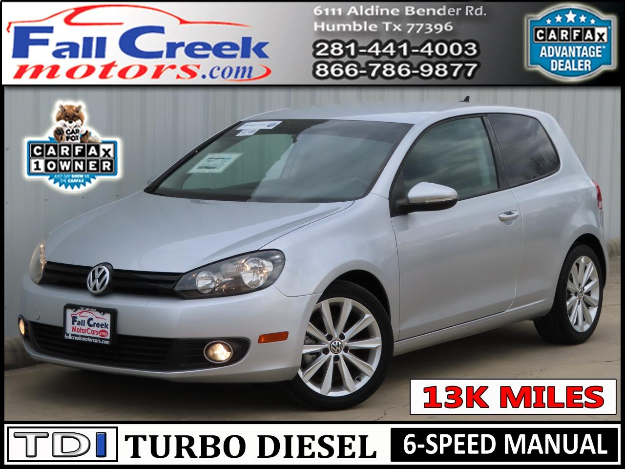 2013 Volkswagen Golf 2.0L 2-Door TDI