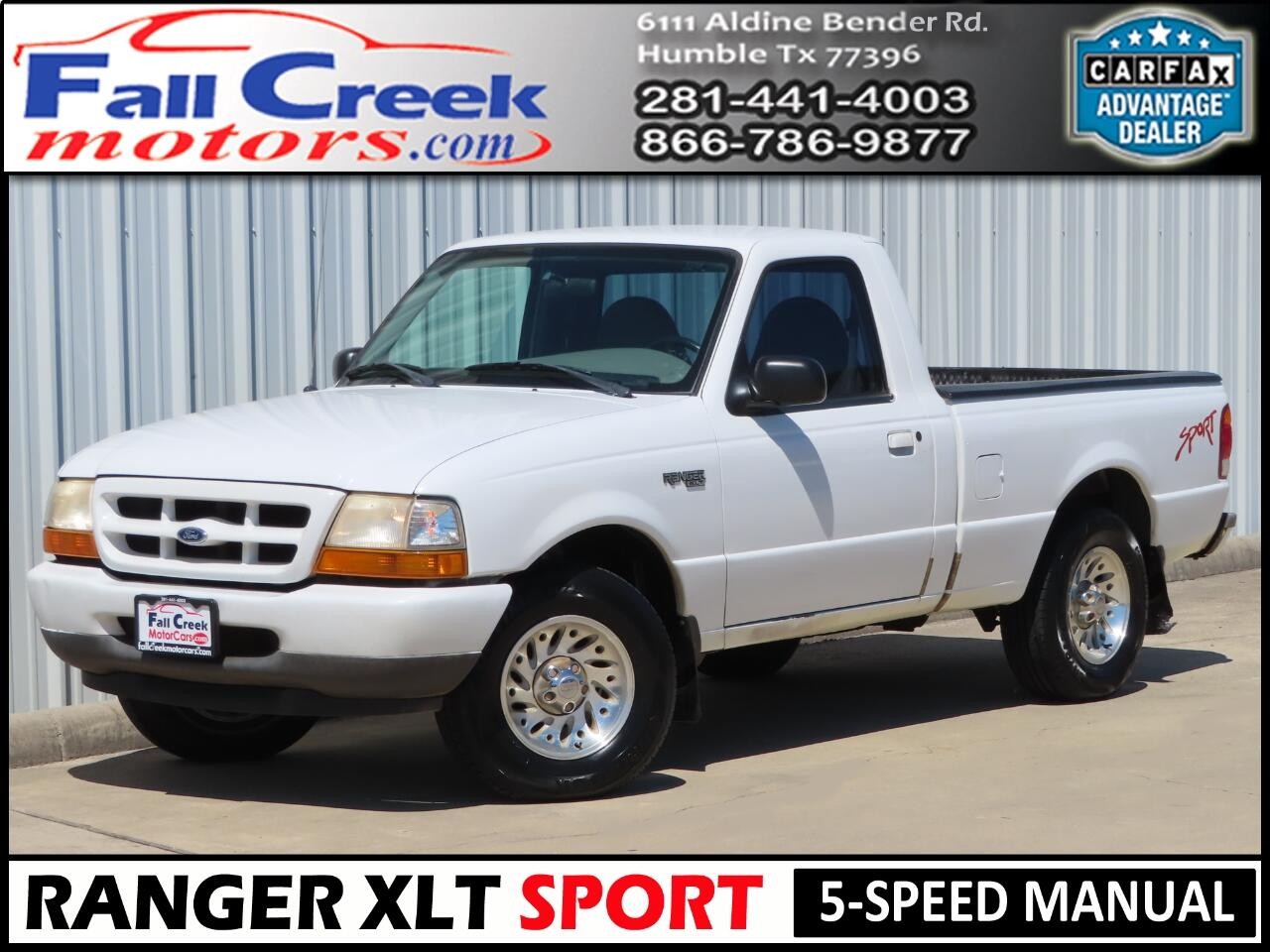 1999 Ford Ranger Sport Reg. Cab Short Bed 2WD