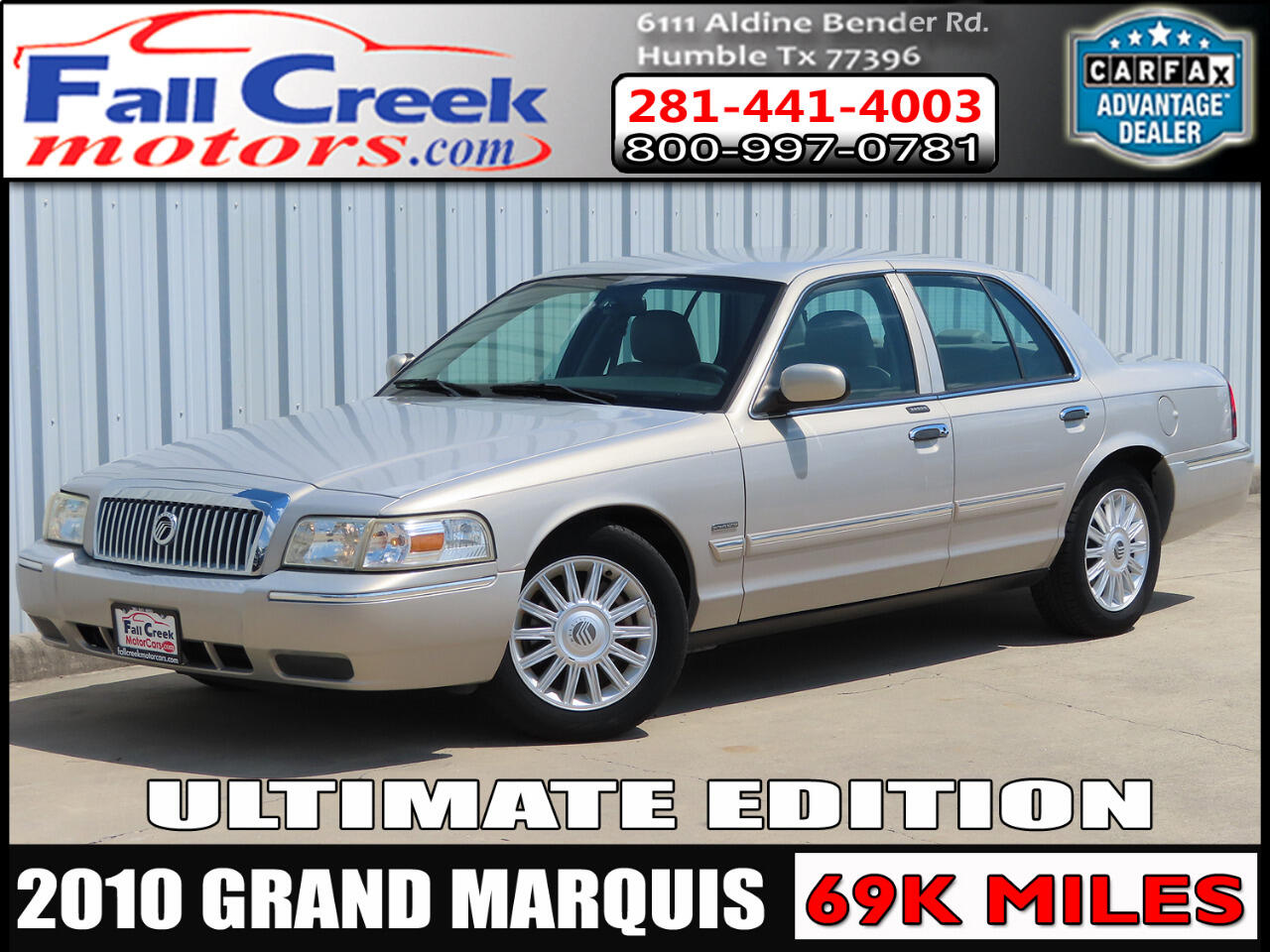 2010 Mercury Grand Marquis LS ULTIMATE EDITION