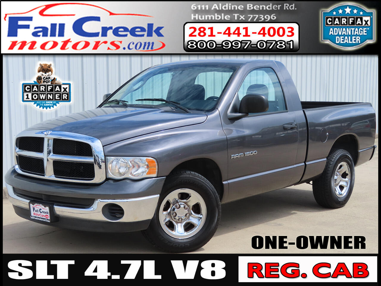 Dodge Ram 1500 Reg. Cab Short Bed 2WD 2003