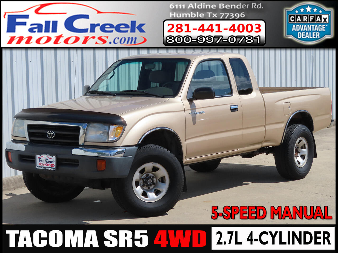 Toyota Tacoma Xtracab 4WD 1999