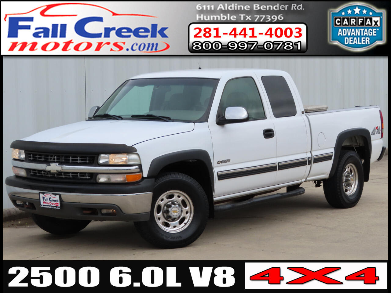 Chevrolet Silverado 2500 LT Ext. Cab 4-Door Short Bed 4WD 2000