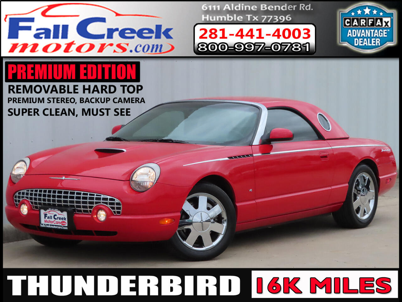 Ford Thunderbird Premium with removable top 2003