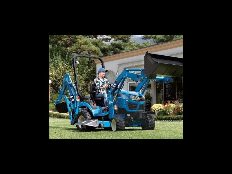 2019 LS MT125H Loader, Mid Mower, & Backhoe