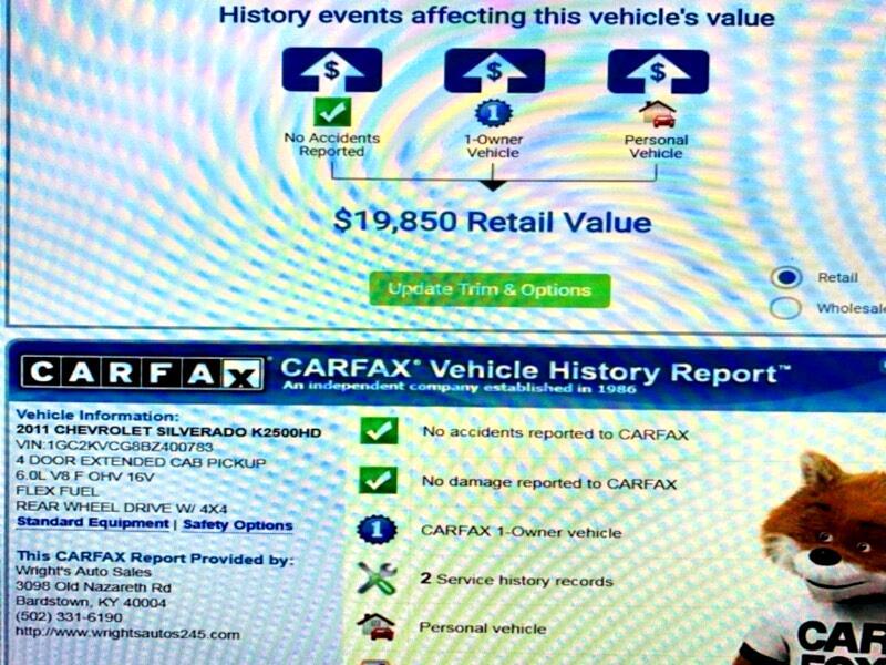 2011 Chevrolet Silverado 2500HD LT Ext. Cab Short Bed 4WD