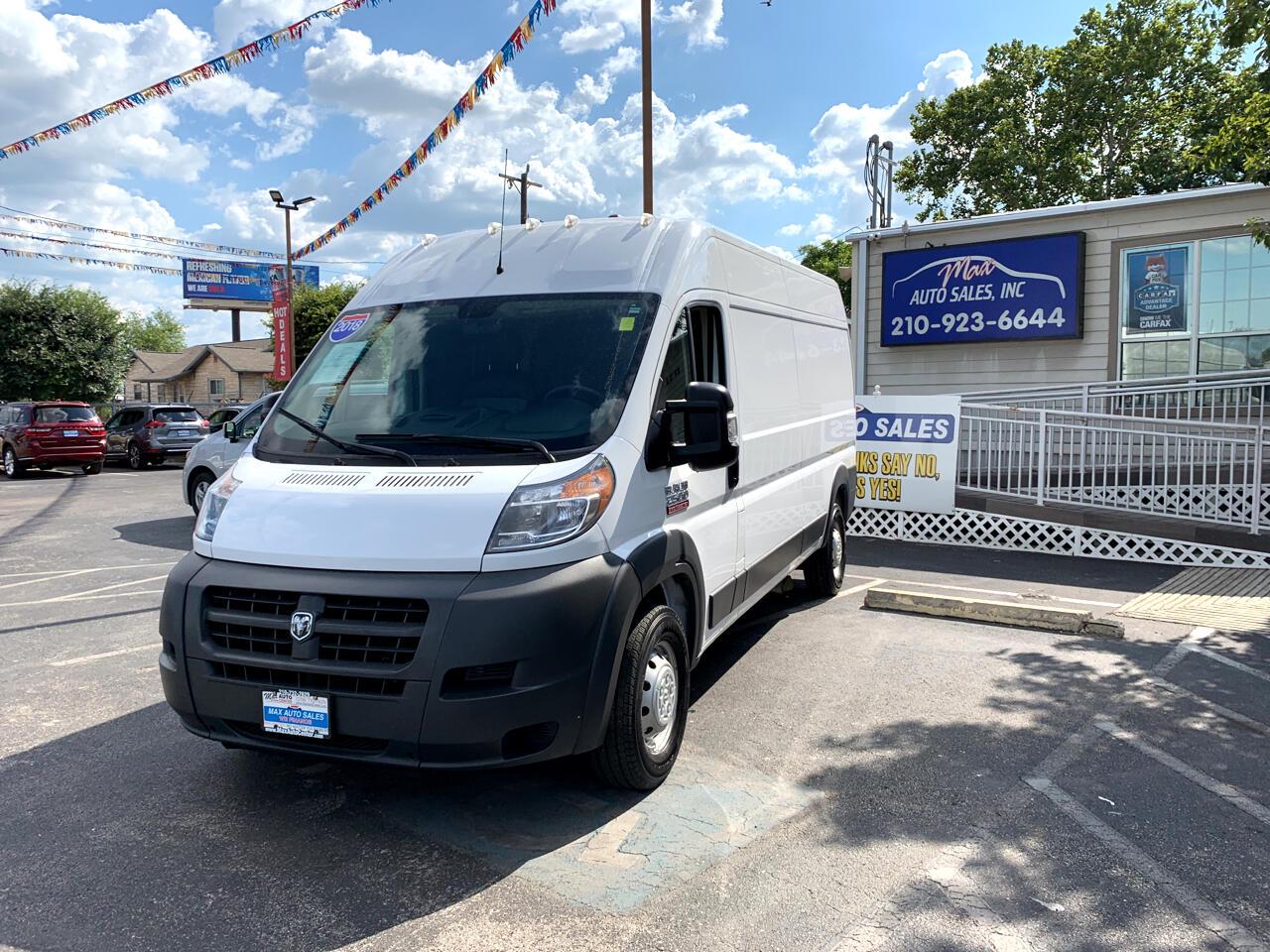 "2018 RAM ProMaster Cargo Van 2500 High Roof 159"" WB"